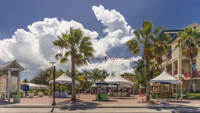 Cayman outdoor craft market in George Town