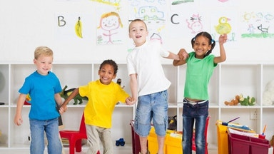 Children jumping for joy at the benefits of tutoring at Chatterbox