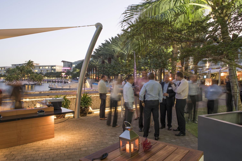 Corporate work function at Camana Bay