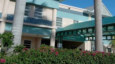 Entryway to Cayman Islands Hospital
