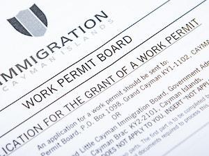 Cayman Islands immigration work permit form
