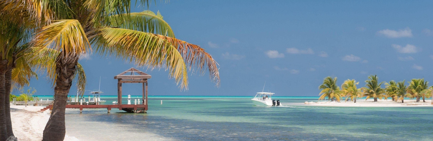 Landscape of the beach and North Side Cayman Islands