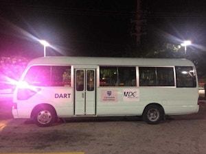 Purple Ribbon Bus in Cayman