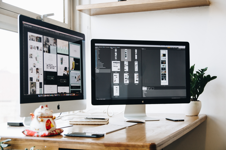 Apple computer workstation