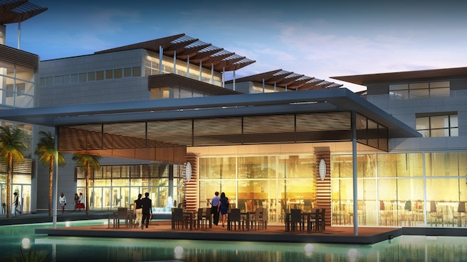 Cayman Enterprise City waterfront rendering