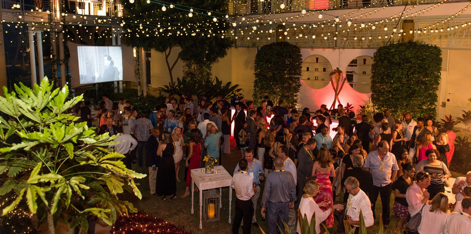 Evening corporate event in Camana Bay