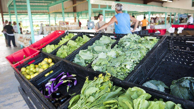 Local vegetables at the farmers market
