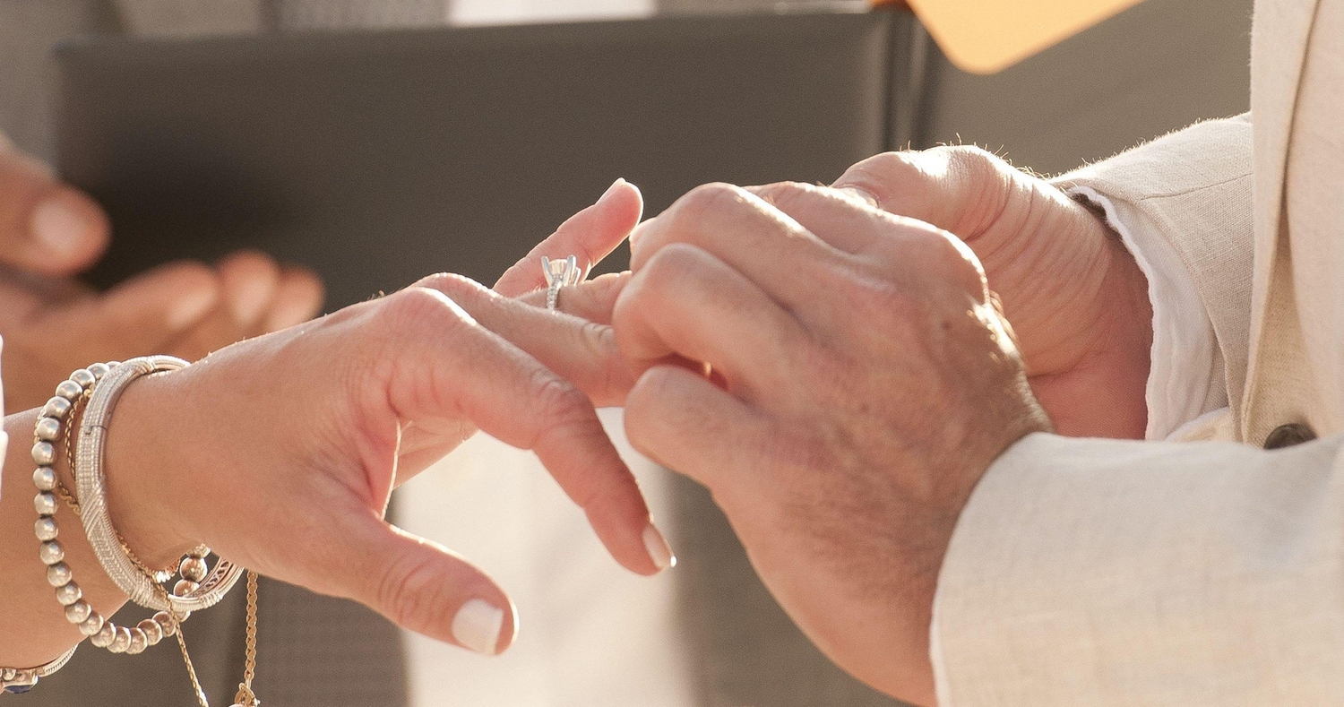 Marriage ceremony with rings