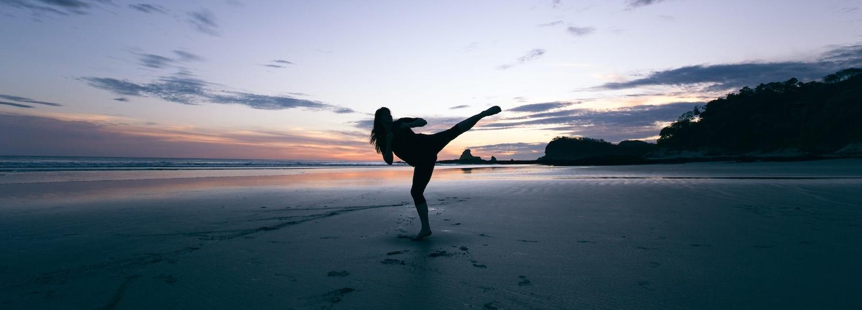 Martial arts the beach
