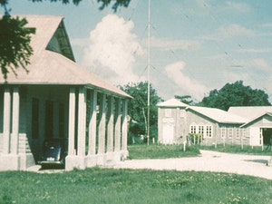 Side profile of the old George Town Town Hall now Constitution Hall